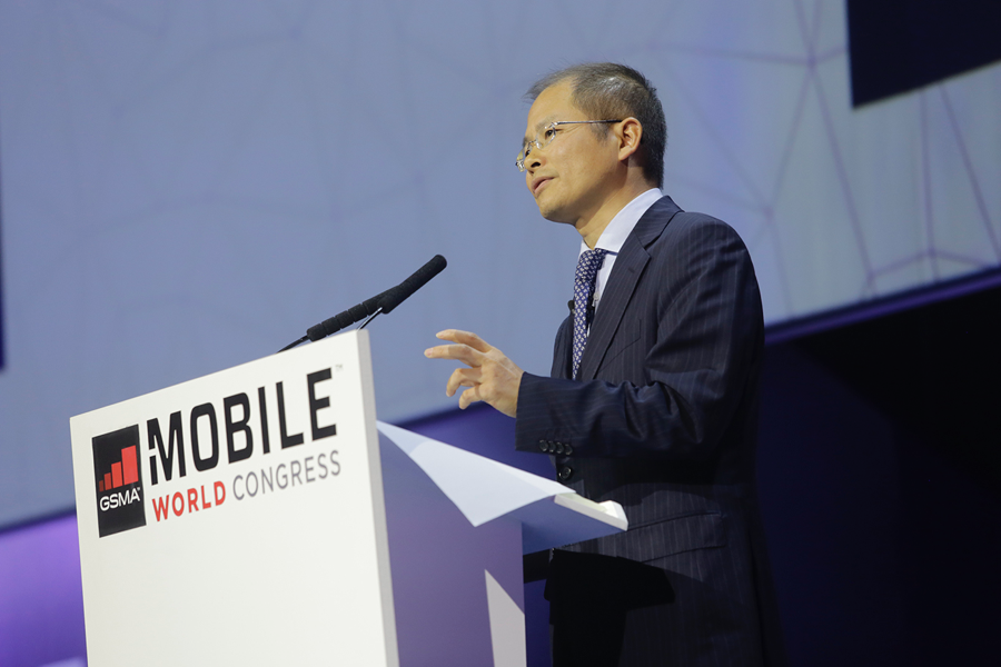 "Eric Xu, Chairman of Huawei, speaks at ""Content Gold Rush"" Keynote at MWC"
