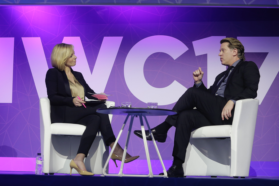 """John Martin, Chairman and CEO of Turner, speaks at """"Content Gold Rush"""" at MWC"""